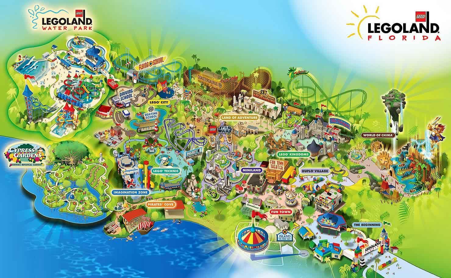 legoland dänemark karte Legoland Dänemark Landkarte   Dänemark legoland Karte (Europa Nord