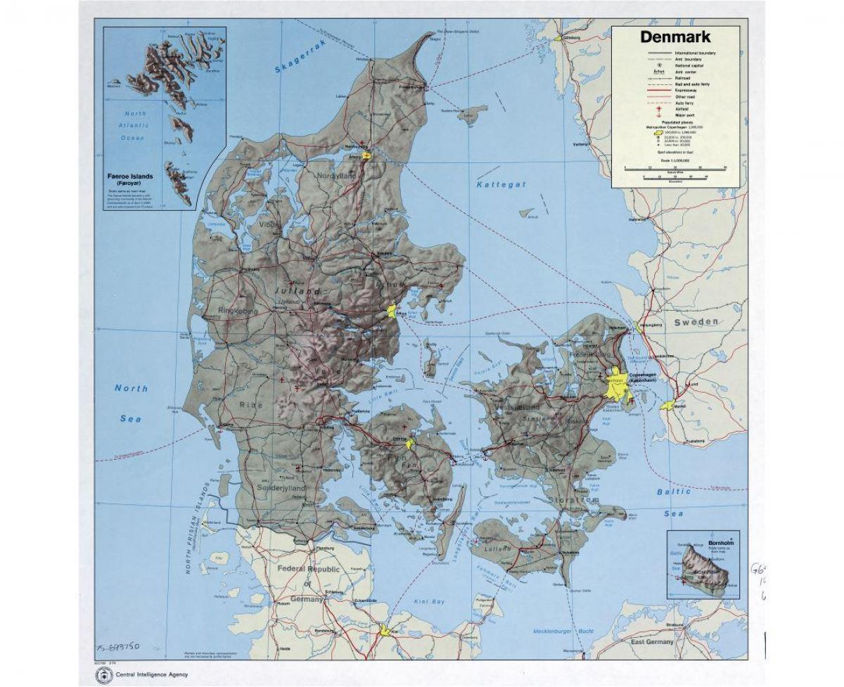 dänemark flughafen karte Dänemark Flughäfen Karte   Internationale Flughäfen in Dänemark