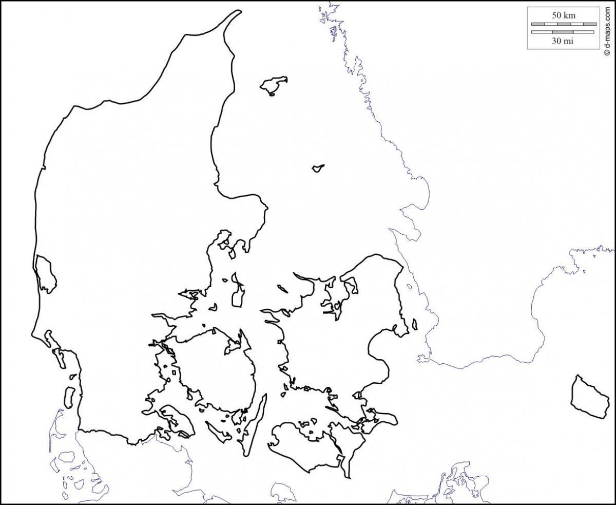 dänemark karte umriss Dänemark Karte Umriss   Karte von Dänemark Gliederung (Northern
