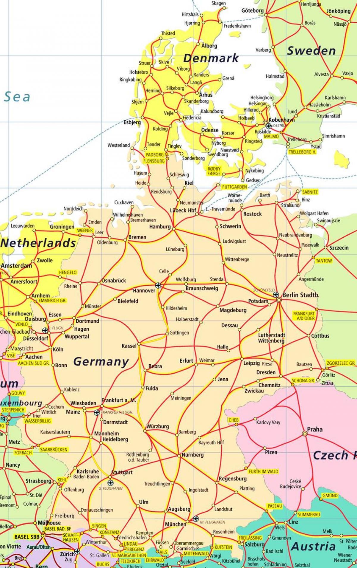 Danemark Attraktionen Anzeigen Danemark Sehenswurdigkeiten Karte