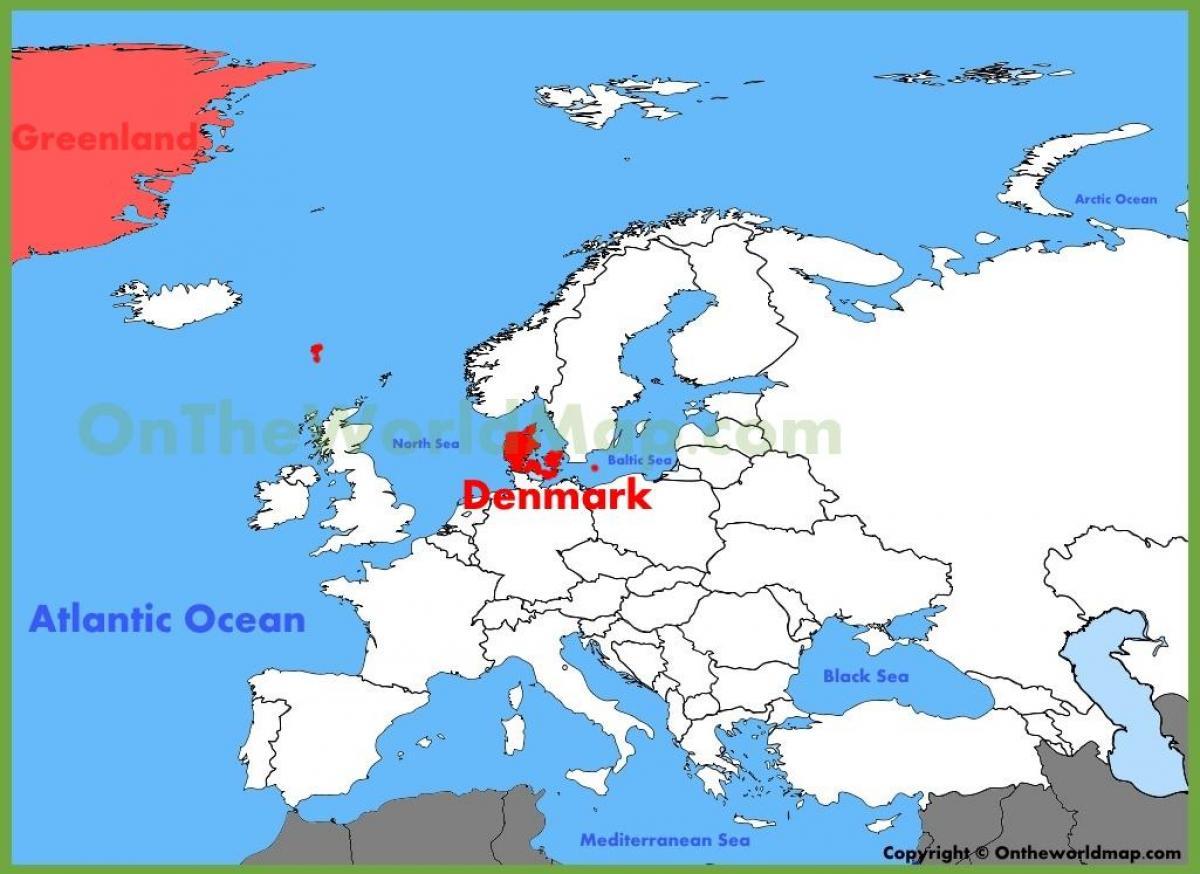 Europakarte Nordeuropa Karte.Karte Von Dänemark Und Europa Kopenhagen Dänemark Karte Von